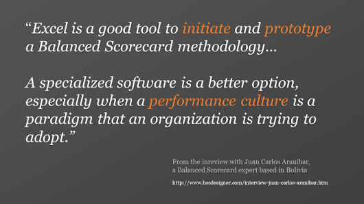 Excel is a Good Tool to Initiate and Prototype a Balanced Scorecard – Interview with Juan Carlos Aranibar