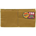 Amscan Gold Big Party Pack - Beverage Napkins (125)