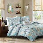 Mizone Simi 4-Piece Comforter Set, Blue, Full/Queen