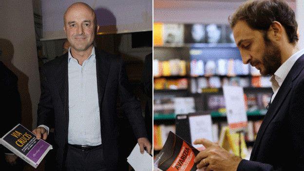 """Nuzzi (à esquerda) e Fittipaldi dizem que burocracia do Vaticano """"trava"""" reformas do papa"""