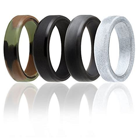 Silicone Wedding Ring For Men And Women By ROQ, 6mm