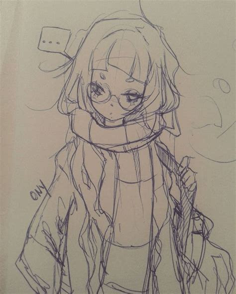 ballpen sketch drawing anime manga art girl japan