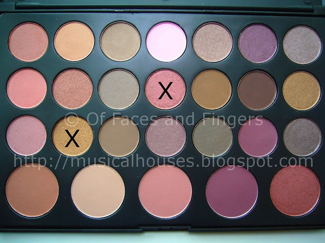 es 26 color eyeshadow blush palette sunset eye look