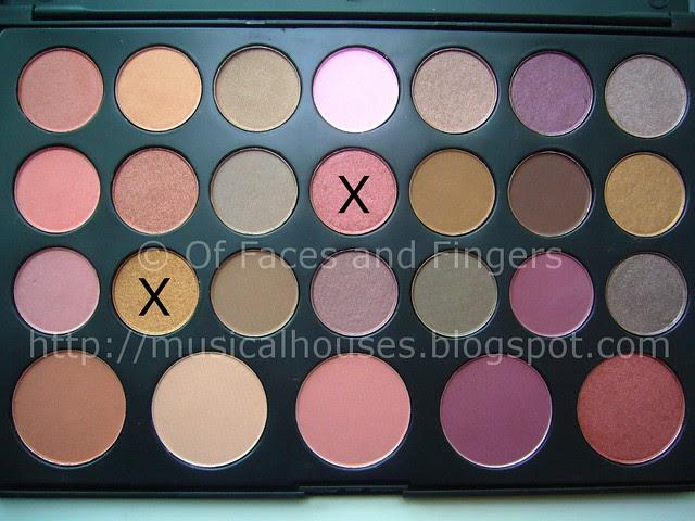 es 26 color eyeshadow blush palette sunset eye look