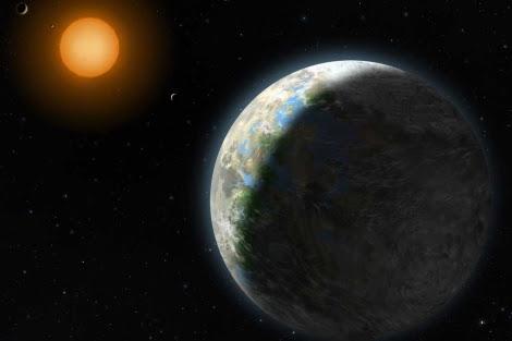 Recreación del planeta Gliese 581 g.  Lisette Cook