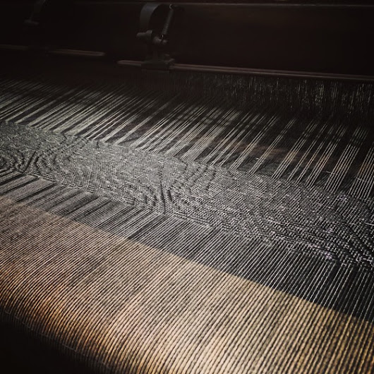My Word with Douglas E. Welch » Fabric on Turn of the Century Loom, Stansborough LTD Woolen Mill, Petone, Lower Hutt, New Zealand