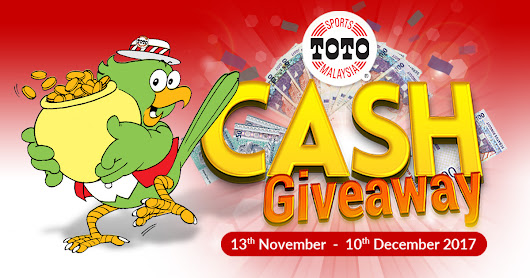 RM6,000 CASH Awaits You to Win in Sports Toto CASH Giveaway