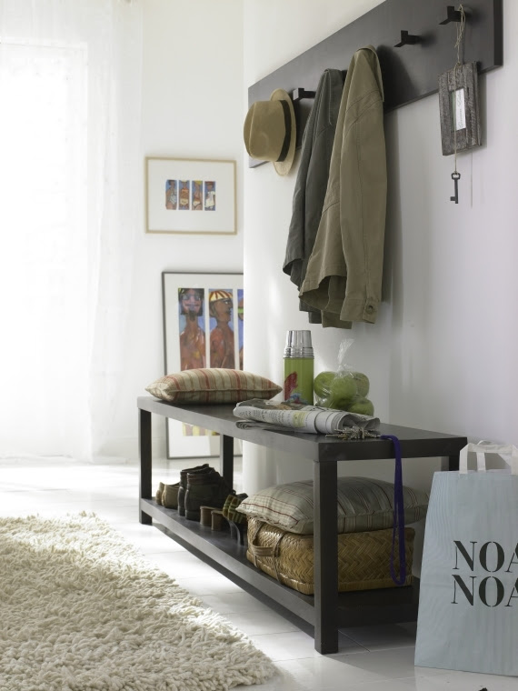 Inspiration... Table like this (for bins w/ scarves) with ...