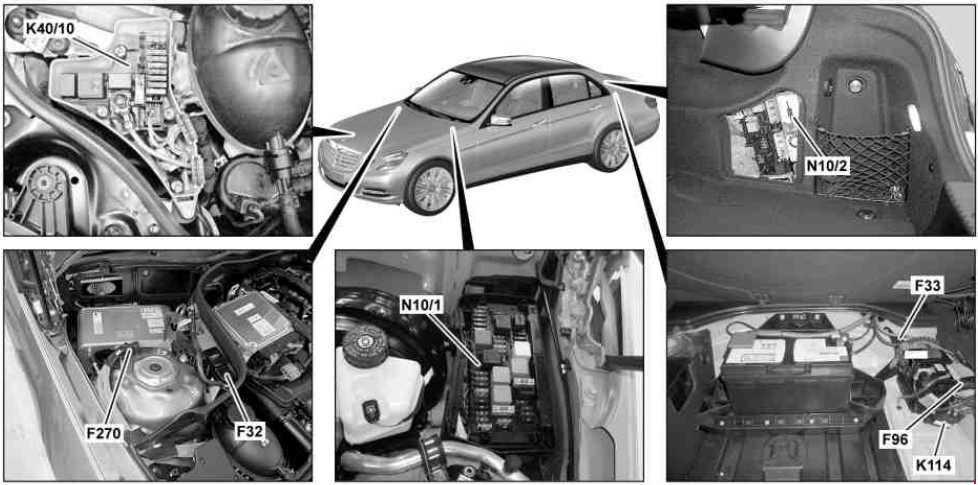 Mercedes Benz E Class W212 2009 2016 Fuse Box Diagram Auto Genius