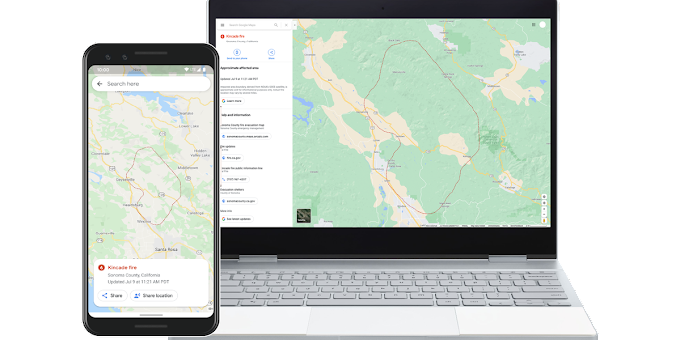Google Maps will warn you of fires in real-time