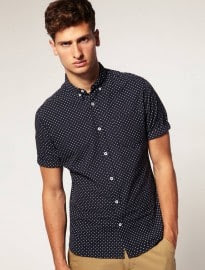 Asos Shirt With Polka Dot Print