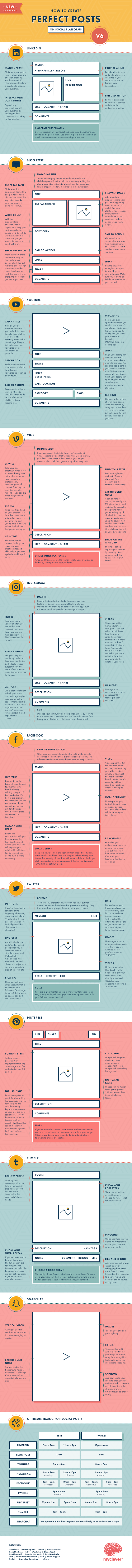Crafting the Perfect Social Posts Infographic