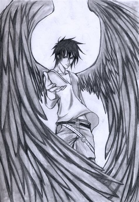 love epic dark angel drawings paper  pencils angel