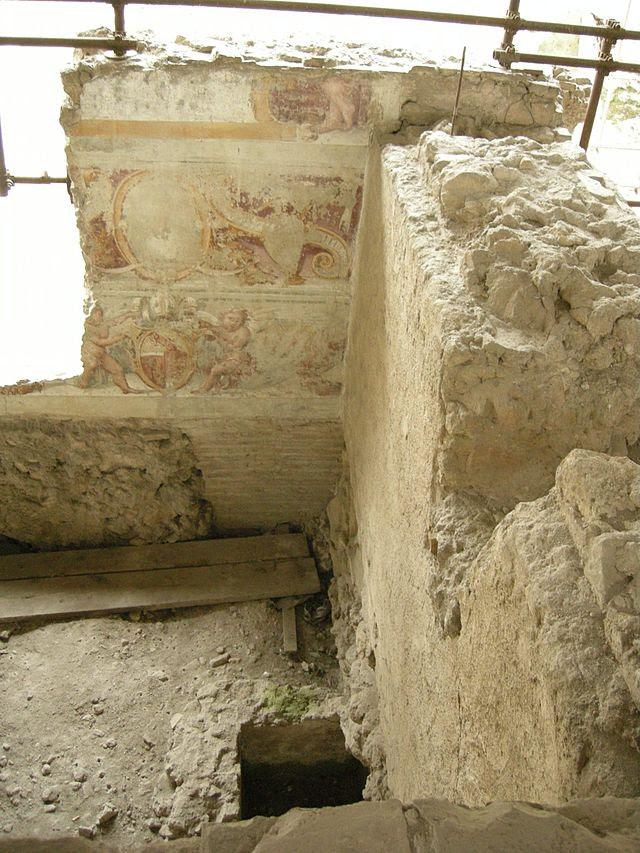 Crypta balbi, affreschi 02.JPG
