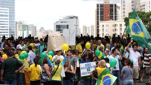 Protesto contra Dilma em SP foi pago com doações online