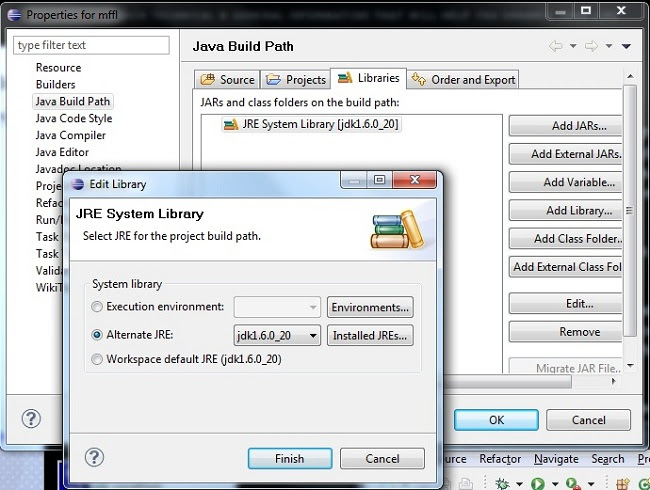 Eclipse Java IDE JDK Selection