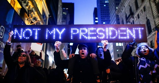 #Not My President Today marks the one-year anniversary of Donald Trump's acute defeat in the popular...