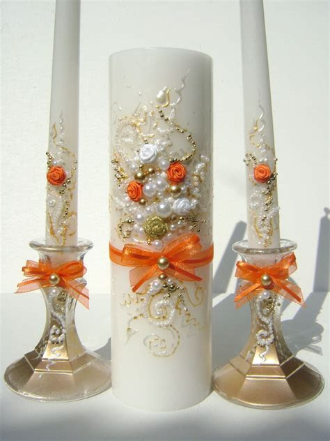 Unity candle set, perfect wedding candles for your unity