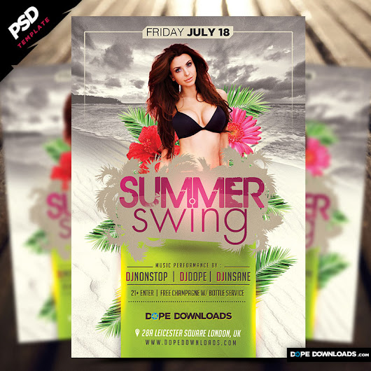 Summer Swing Flyer Template