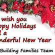 Happy Holidays and a Wonderful New Year | Building Families, Inc.