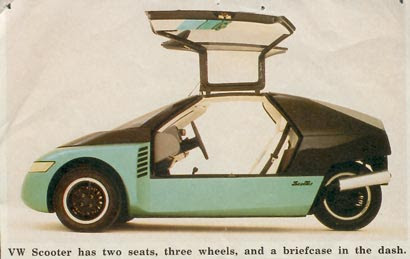 the VW Scooter concept car. circa 1988.