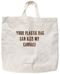 your plastic bag can kiss my canvas