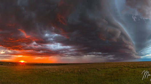 Kansas Sunset Thunderstorm - Near Minneapolis, Kansas - Photography by Mickey Shannon