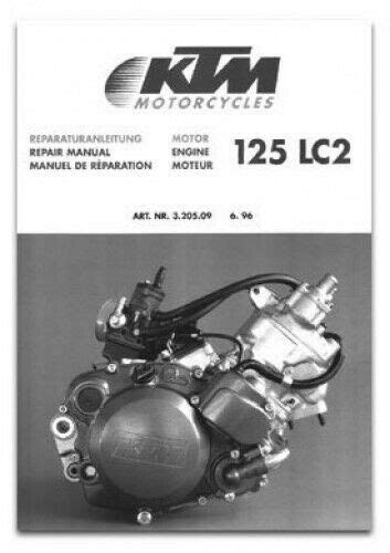 1997 KTM 125 LC2 Sting Motorcycle Engine Repair Manual | eBay