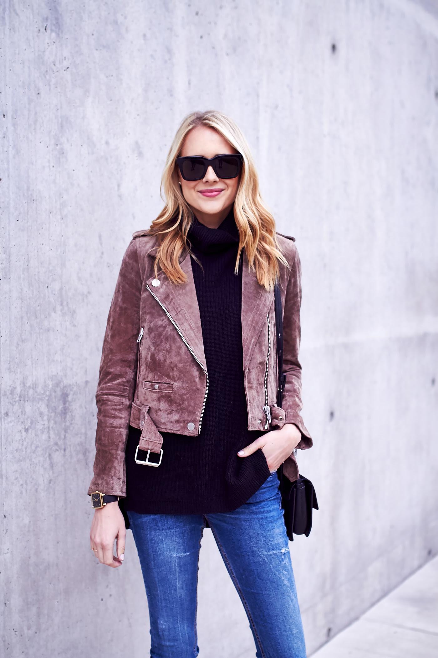 how to wear a suede moto jacket  fashion jackson