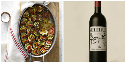 Perfect pairings: Smoky grilled zucchini gratin & an earthy Portuguese Douro