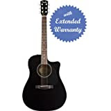 Fender CD-60CE Dreadnought Cutaway Acoustic-Electric Guitar with Gear Guardian Extended Warranty - Black