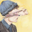 Deconstructed Watercolor Portraits by Henrietta Harris | Colossal