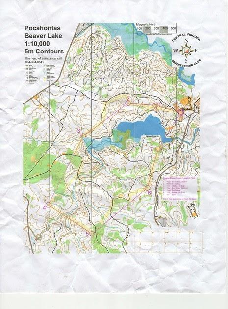 Pocahontas State Park Trail Map : pocahontas, state, trail, Orienteering, Pocahontas, State