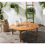 "Safavieh Outdoor Living Danville Brown Round Table - 39.4"" x 39.4"" x 14.2"""