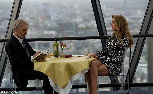 trabalho no cinema: Thornton e Heard vão estrelar juntos no filme London Fields (filme ainda acima), que está programado para lançamento ainda este ano
