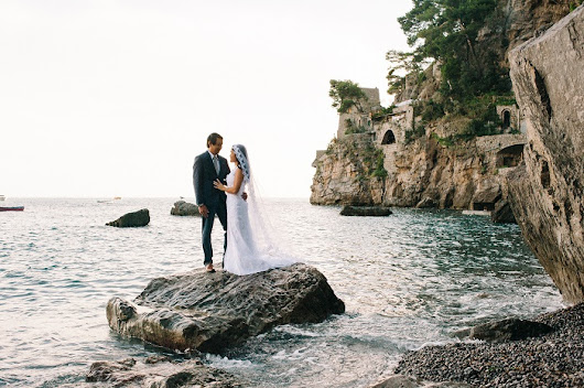 Breathtakingly Romantic + Beautiful Positano Elopement and Her Alfred Angelo Wedding Dress