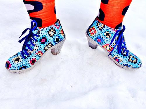 granny square boots