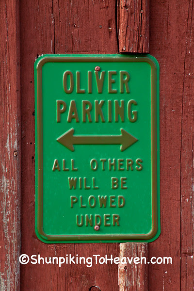 Oliver Parking Sign, Green County, Wisconsin