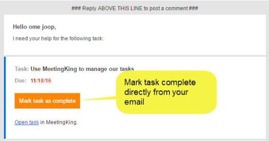 Manage tasks from your email | MeetingKing