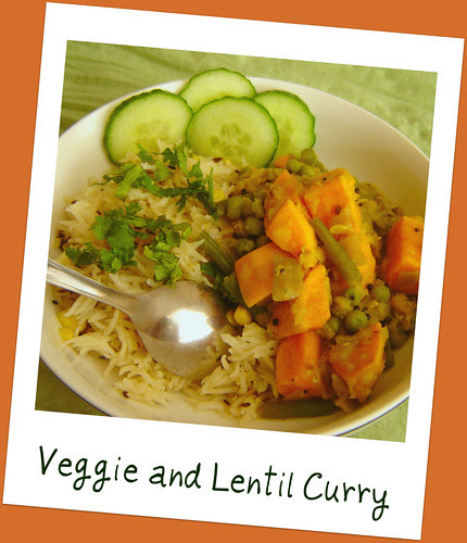 Veggie and Lentil Curry