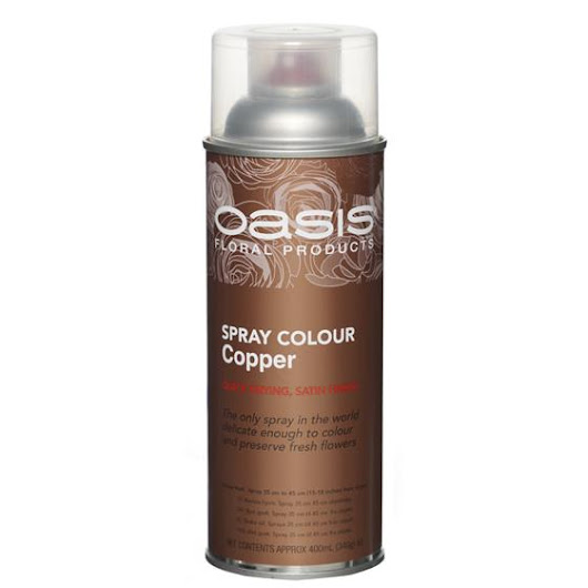 Floral Spray Paint Copper Colour