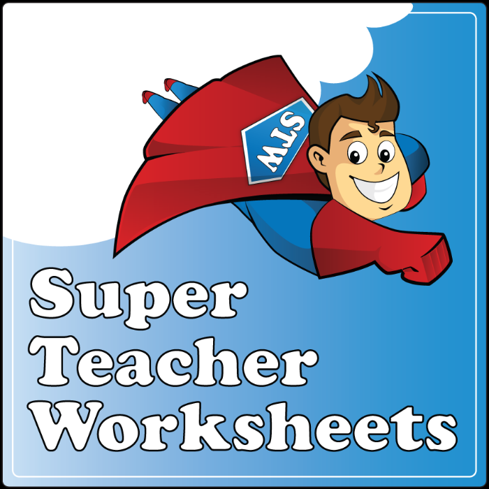 Super Teacher Worksheets ~ Review by Tess at Circling Through This LIfe