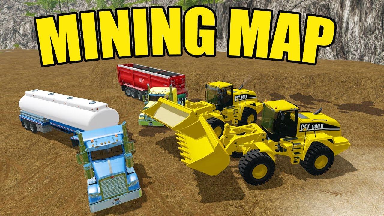 Farming Simulator 2017 Gold Mining Huge Cat Wheel