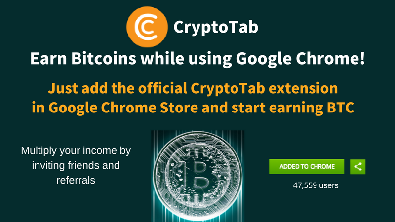 Mine Bitcoins While Using Chrome And Earn Up to 0.03BTC