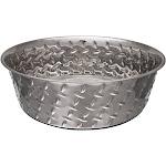 Loving Pets 7258 Ruff n Tuff Diamond Plate Dog Bowl, 5 Quart