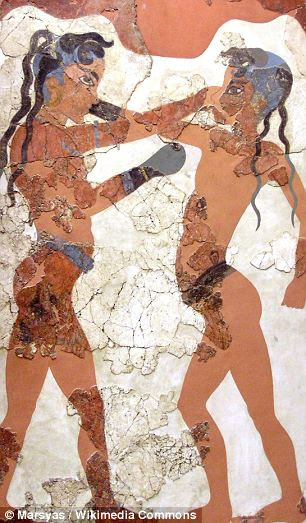 A Minoan fresco of children boxing: New DNA analysis has debunked the theory that the Minoans were refugees from North Africa