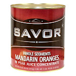Savor Imports Mandarin Orange Segments In Juice, 10 Can (6 Pack)
