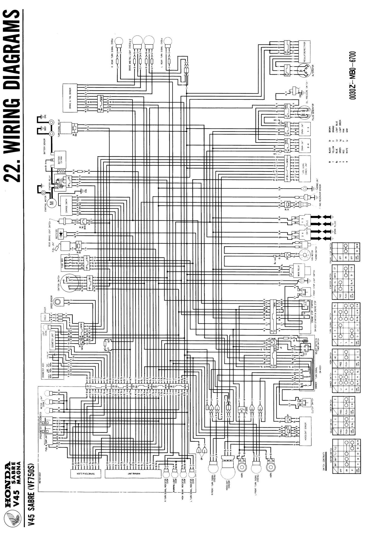 1982 Honda v45 magna wiring diagram