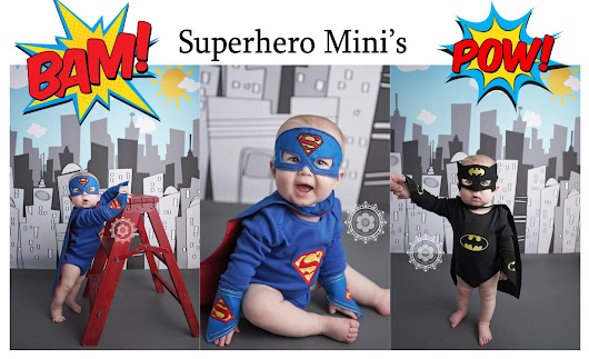 SuperHero Minis ♥♥♥ Atlanta Georgia Baby Child Photographer - Shannon Leigh Studios
