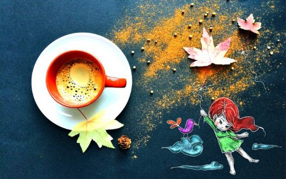 wonderful morning ritual illustration by Cinzia Bolognesi